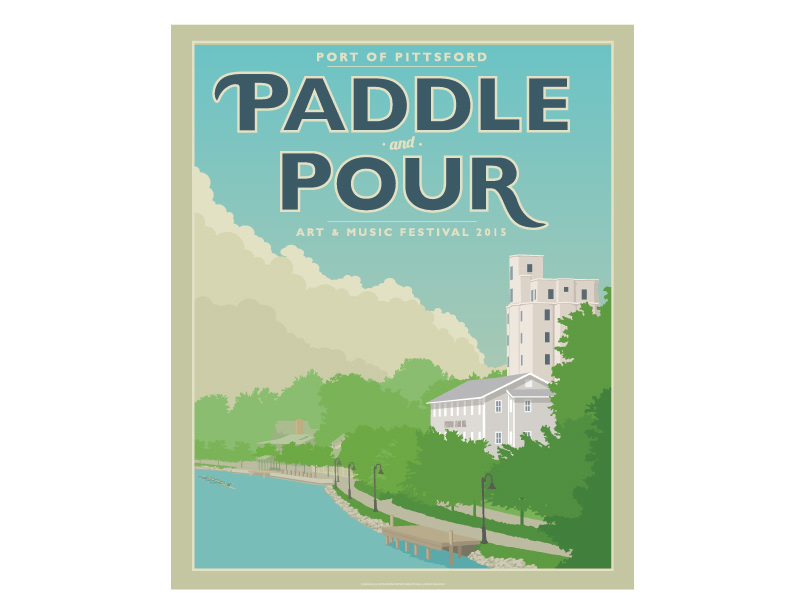 Paddle & Pour Poster Series
