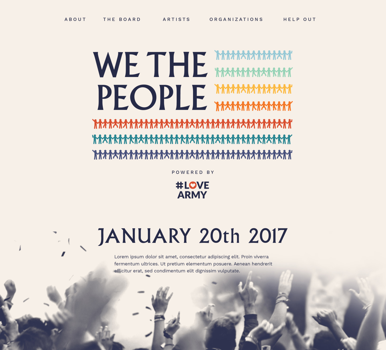 WE THE PEOPLE logo and website