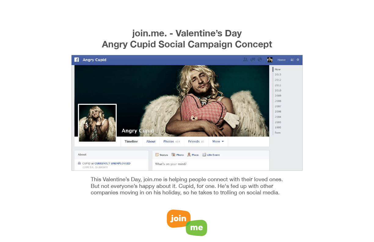 Join.Me. Valentine's Day Social Campaign