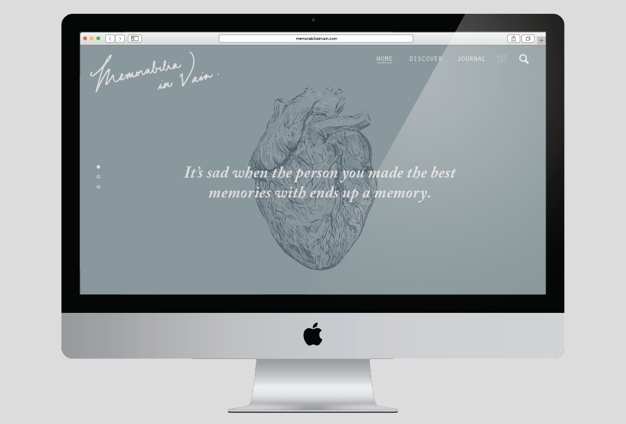 Memorabilia, in Vain Web Design