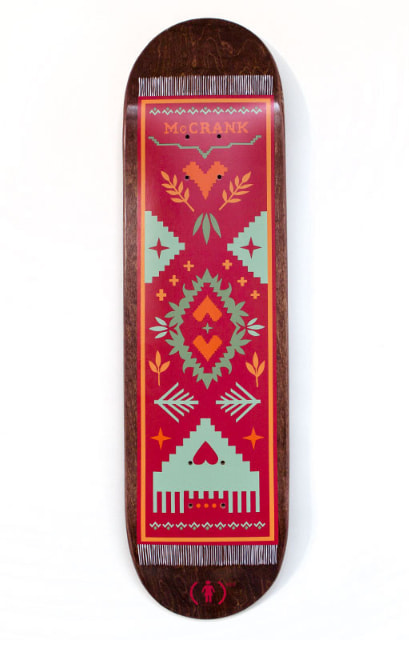 McCrank (RED) Skateboard Graphic