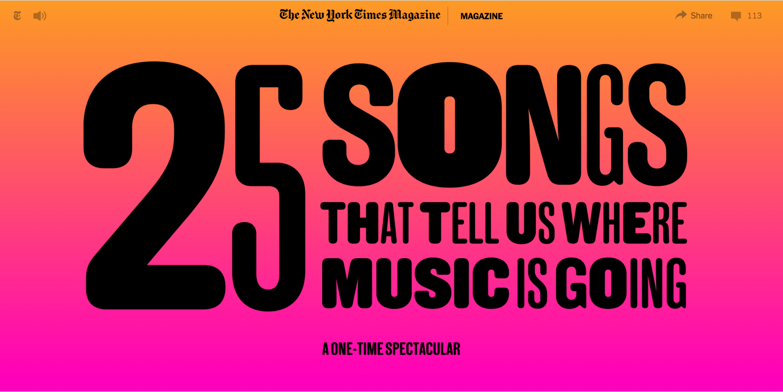 NYTMag Music Issue 2016