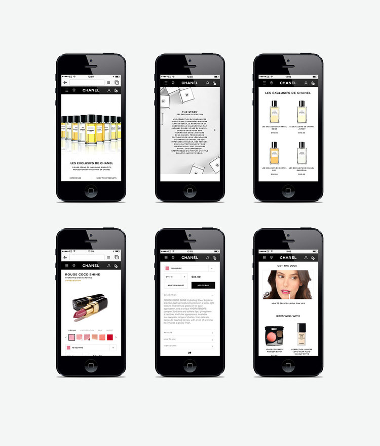 Chanel: Global Website re-design, social strategy and guidelines