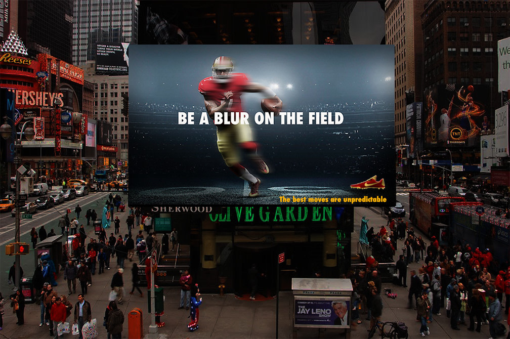 """NIKE CLEATS """"Be a Blur on The Field"""" A spec campaign."""