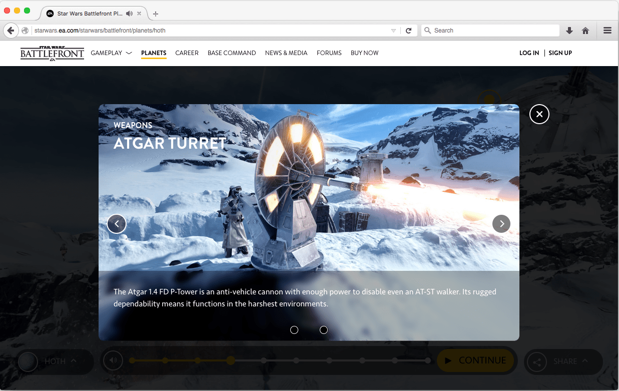 Star Wars Battlefront Planets Experience
