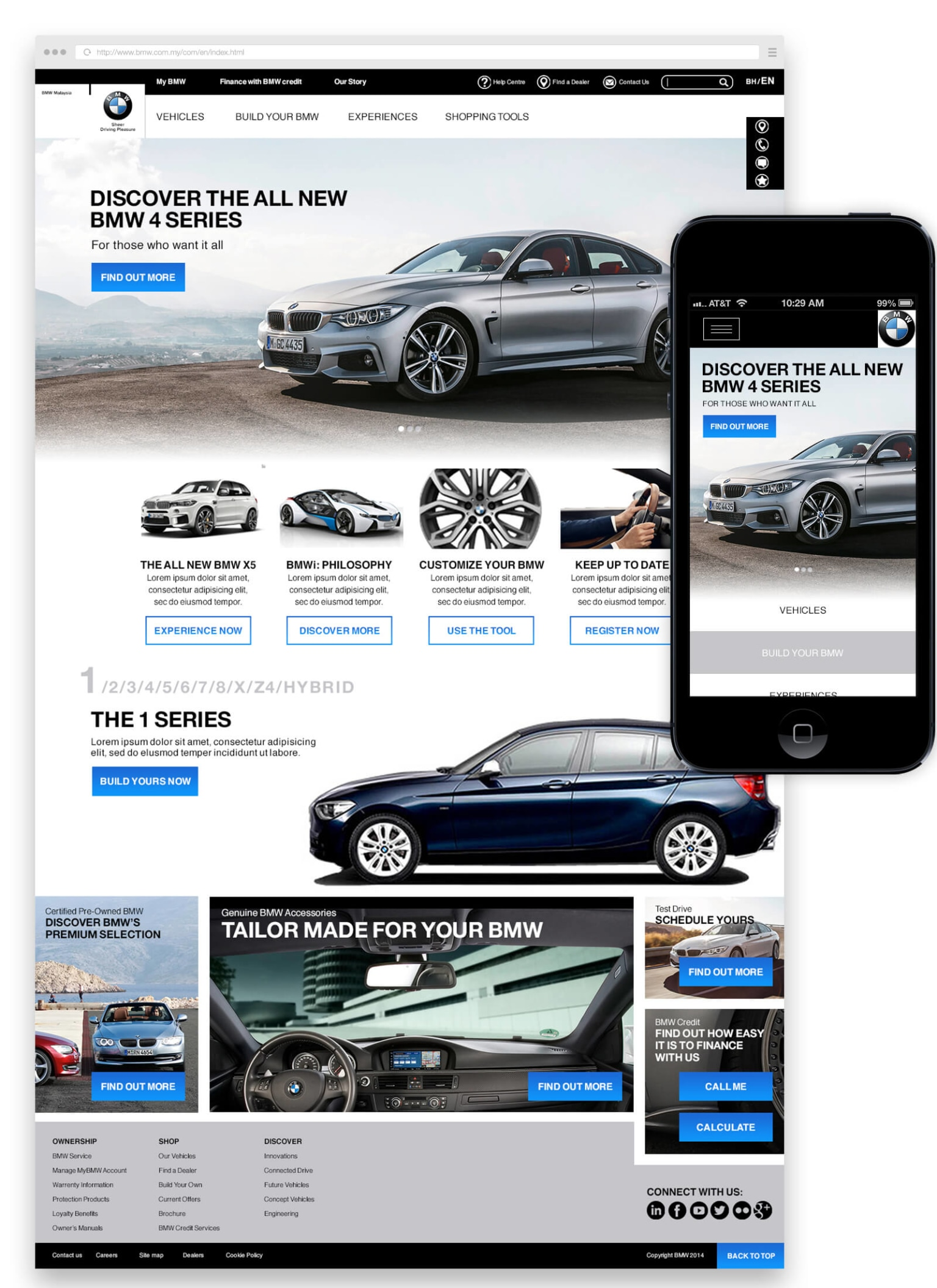 BMW - Responsive web design