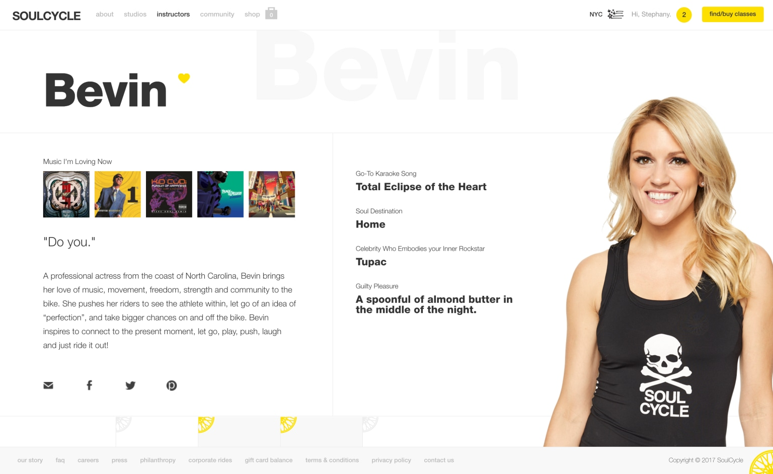 SoulCycle Responsive Redesign