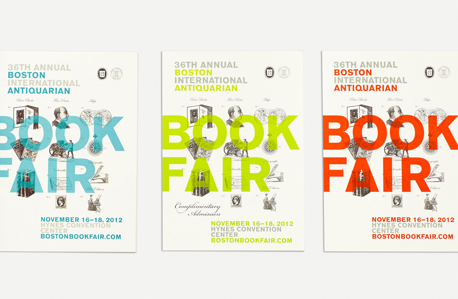 Antiquarian Book Fair Event Collateral