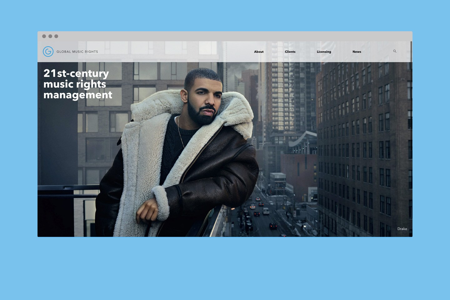 Global Music Rights - Web Redesign and Upgrade to Search 2.0