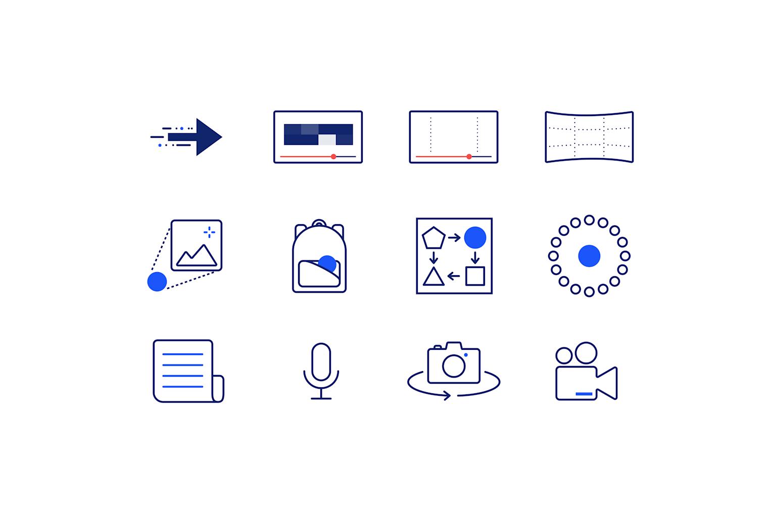 Facebook F8 Presentations Icons