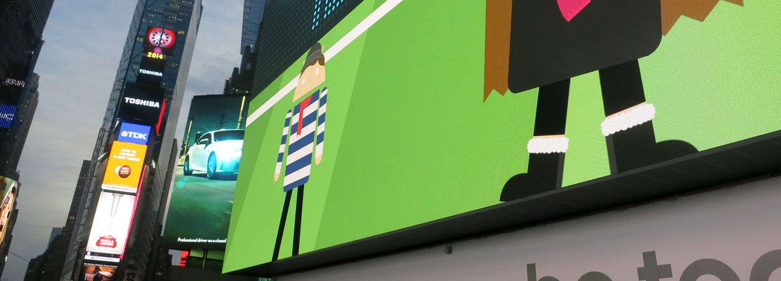 Androidify 2.0 Times Square Launch
