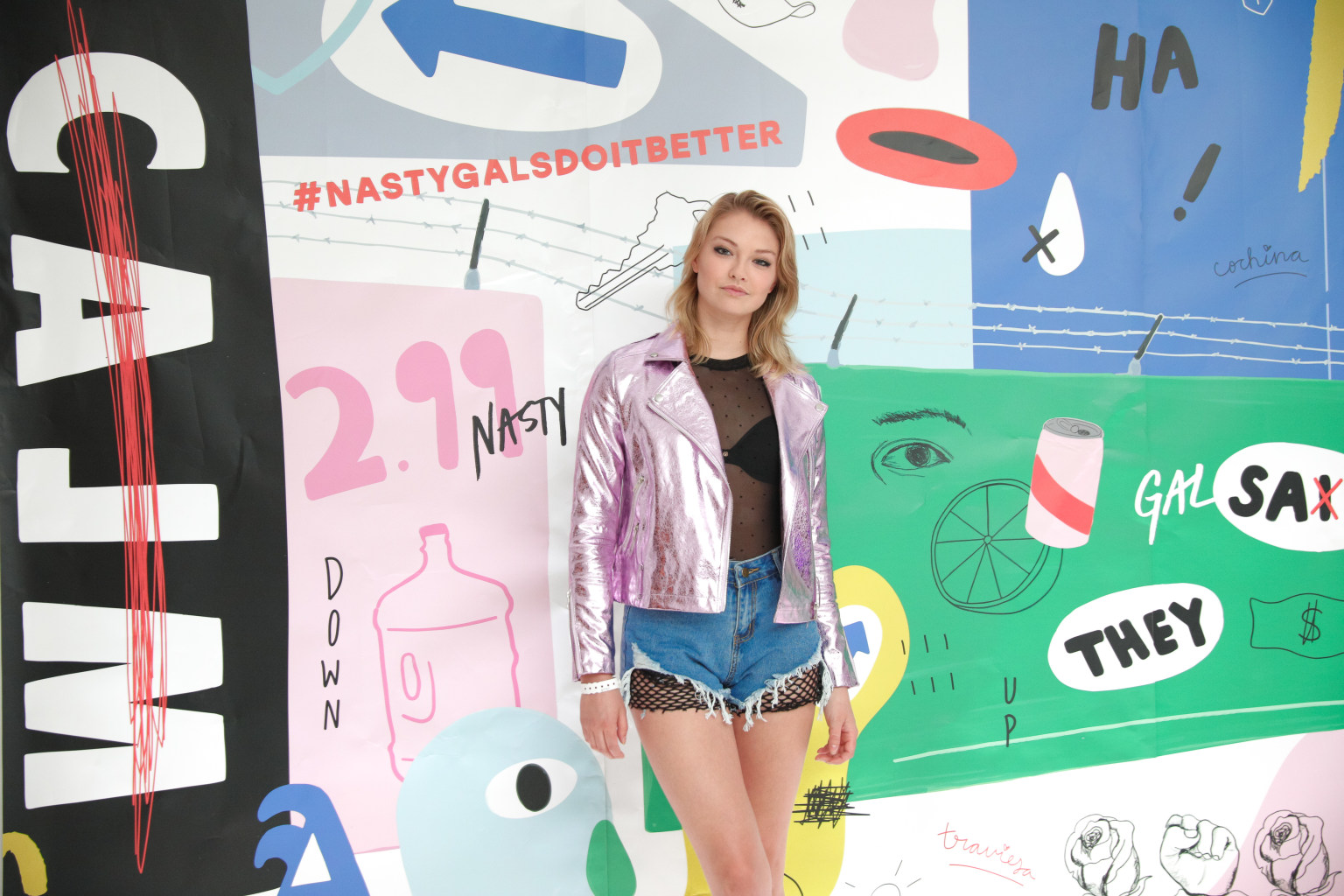 Nasty Gal - Governor's Ball Party Step and Repeat