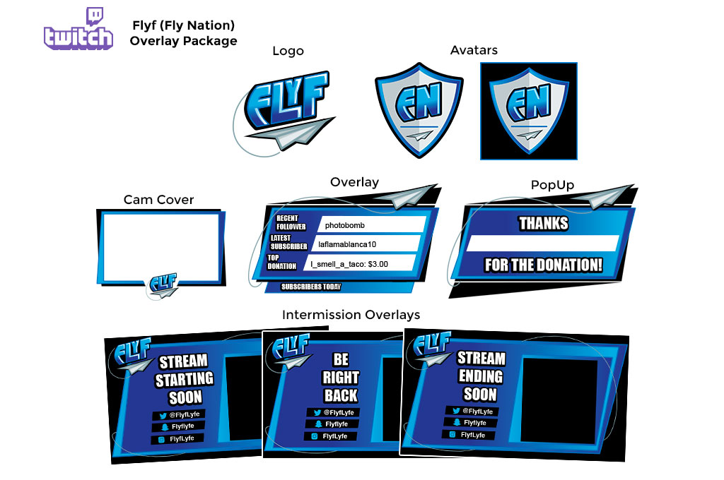 Twitch Overlay Packages - WNW