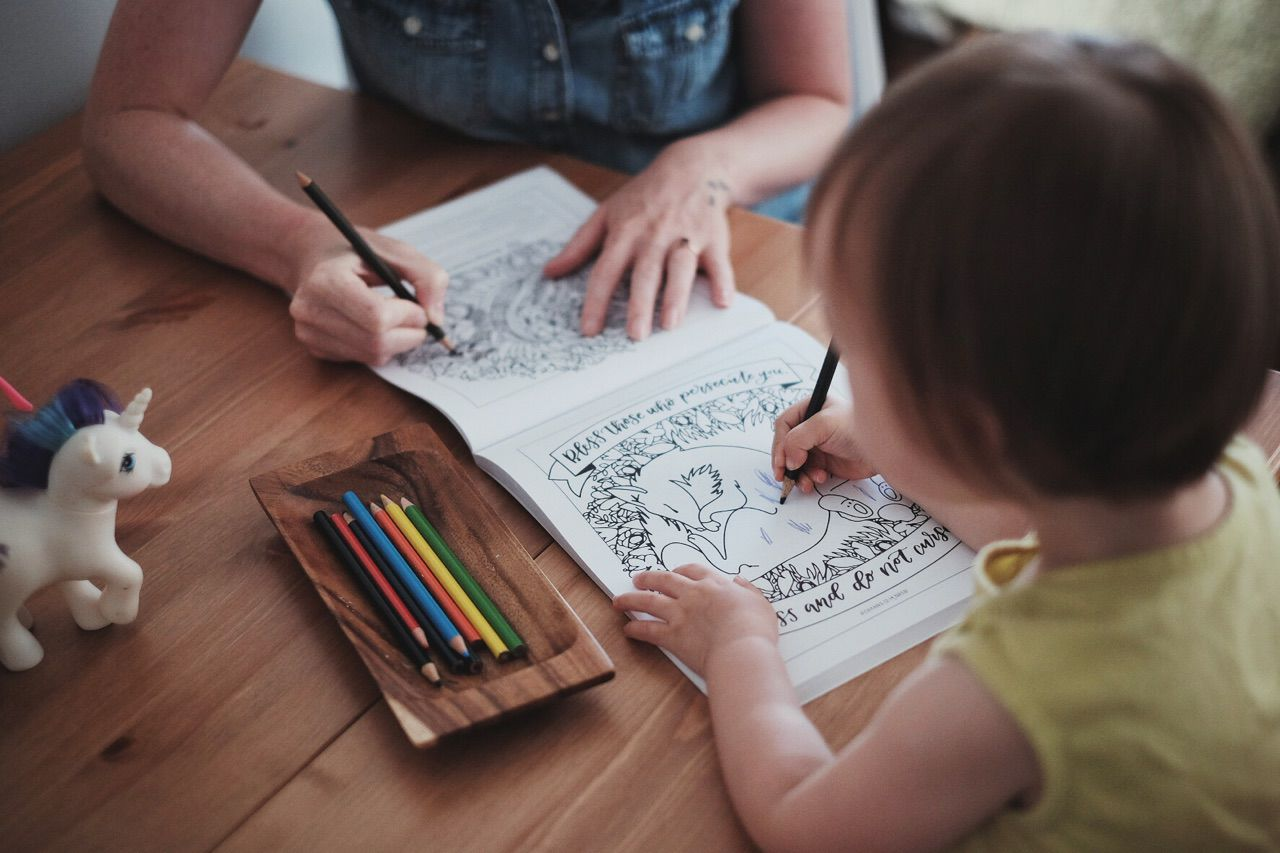 Big and Little Coloring Devotional