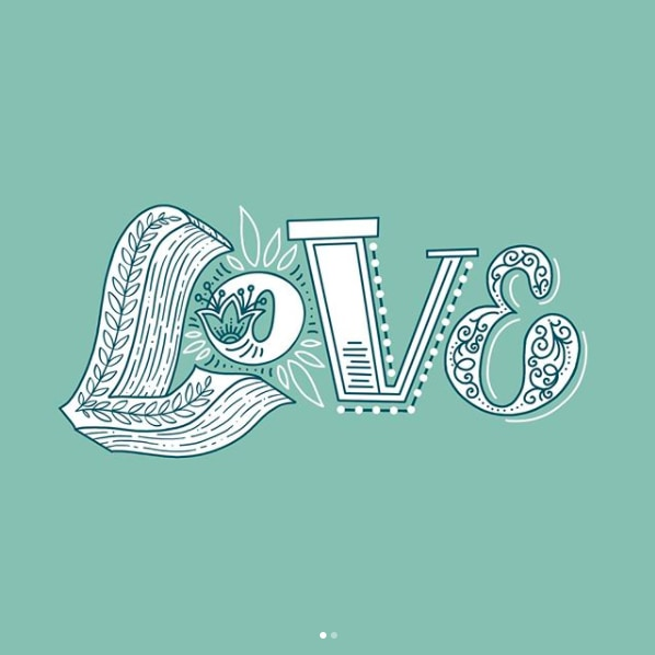 LOVE Illustrative Hand Lettering