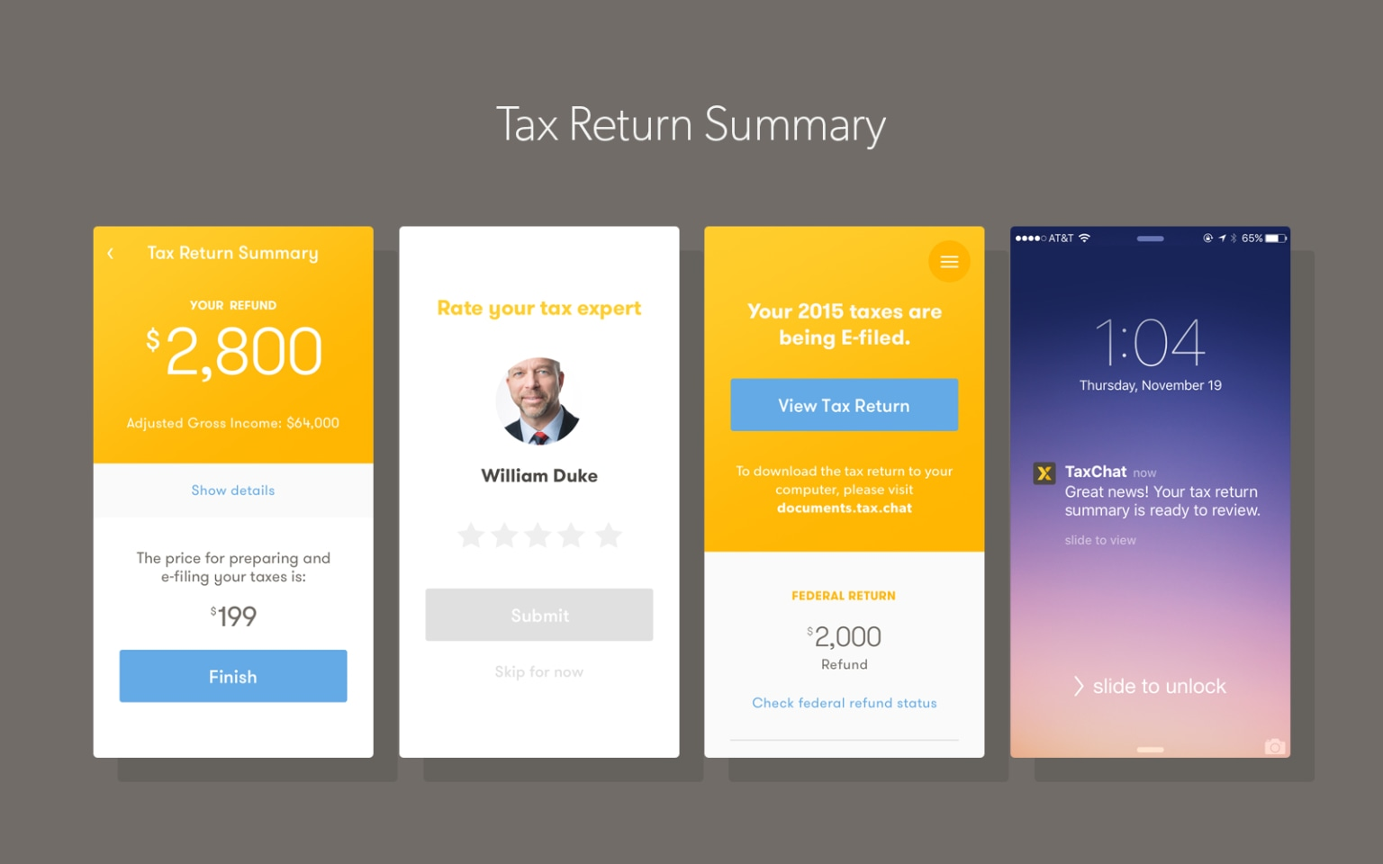 TaxChat Product Design
