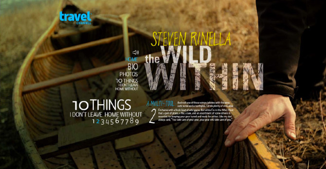 "Mini site for Travel Channel's ""Wild Within"""