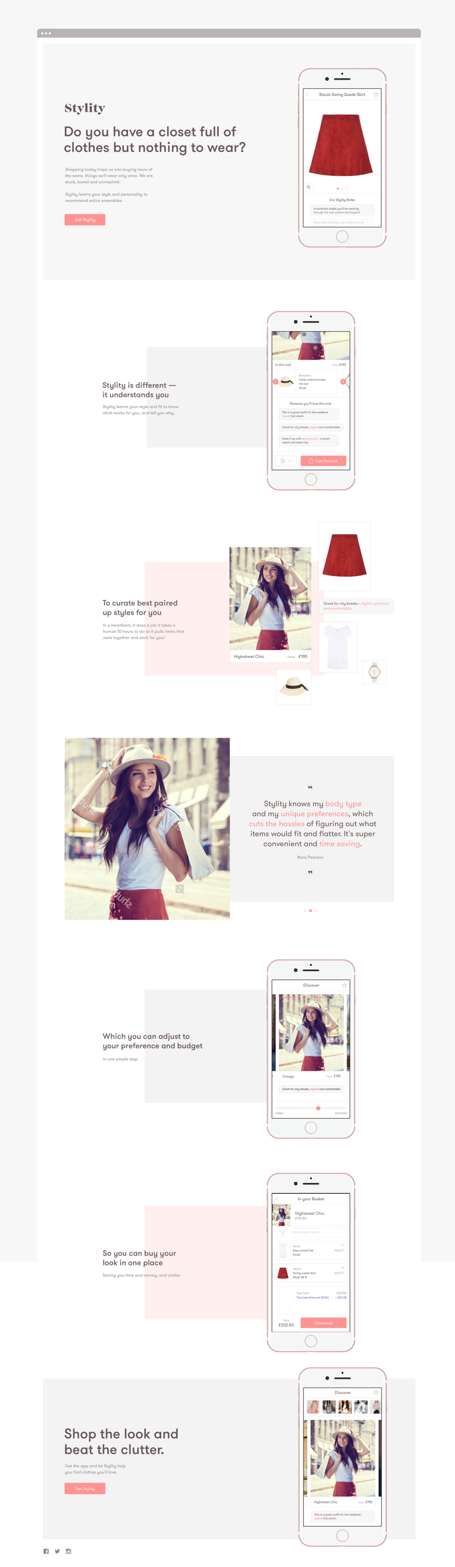 Design direction for a fashion discovery app - WNW