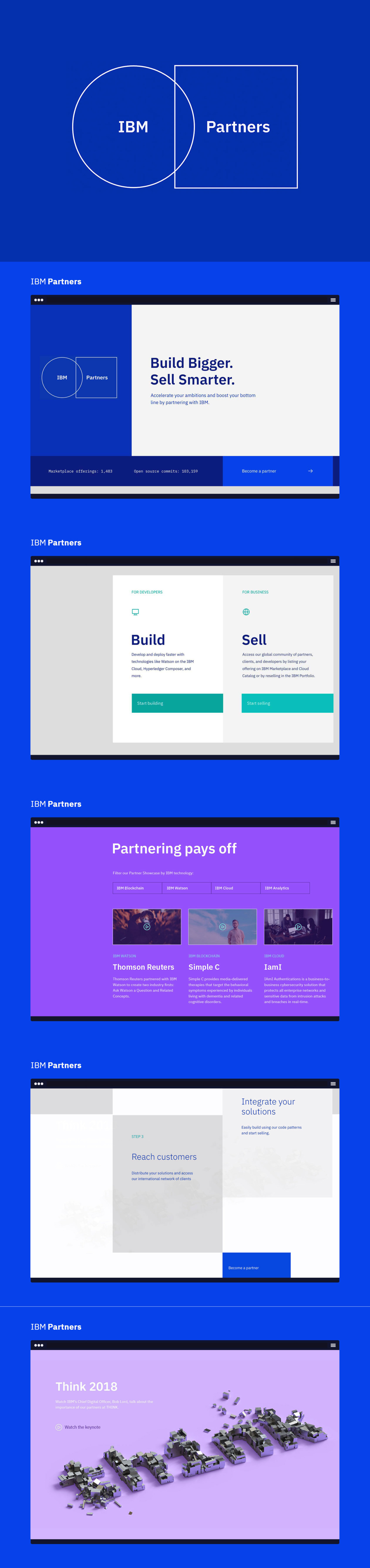 IBM Partners - UI Design and front end development