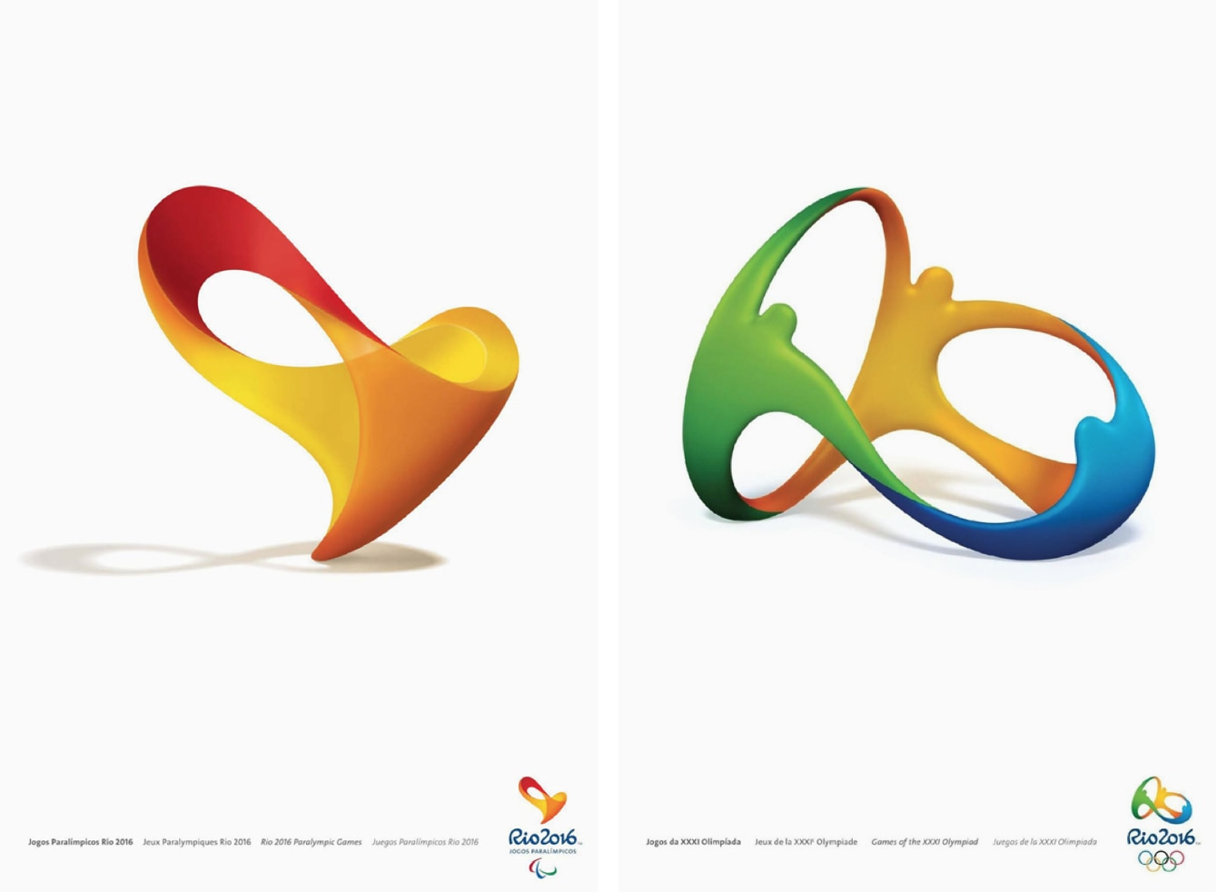 Rio 2016 Olympic & Paralympic official posters