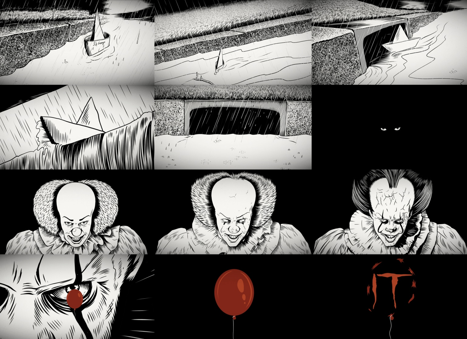 1990 Pennywise vs 2017 Pennywise | IT Animated