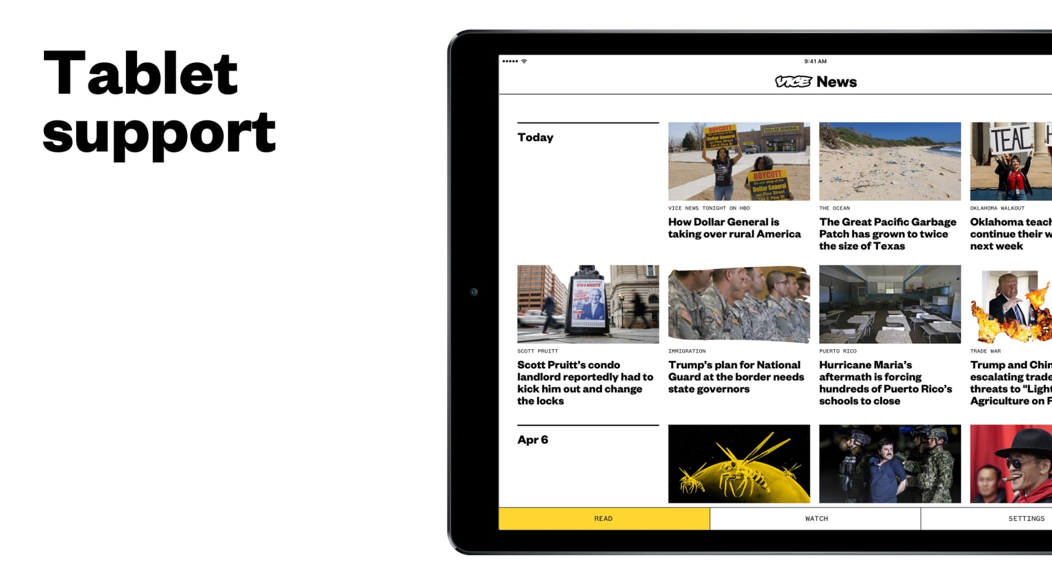 Vice News Android and iOS App