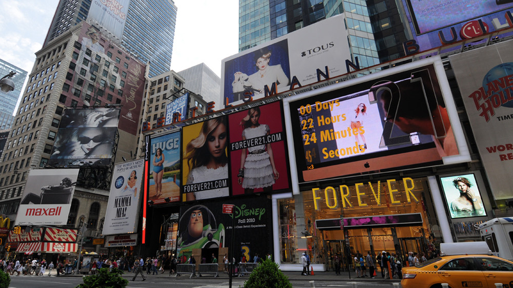 Forever 21 Times Square Billboard