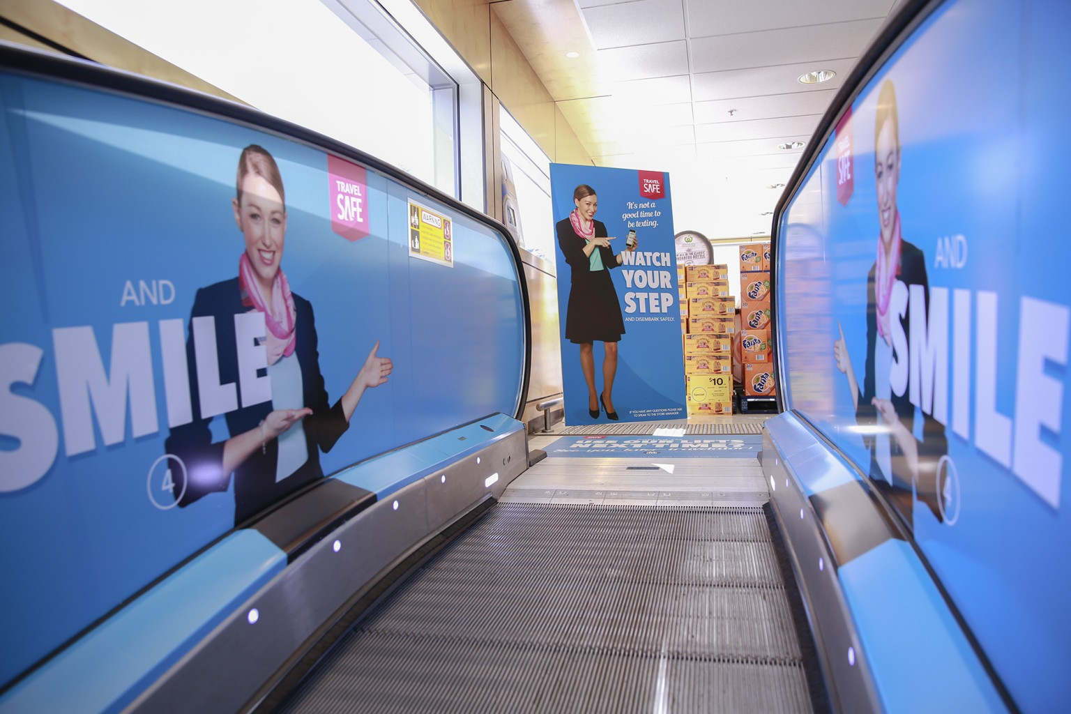 Woolworths Travelator Safety Campaign