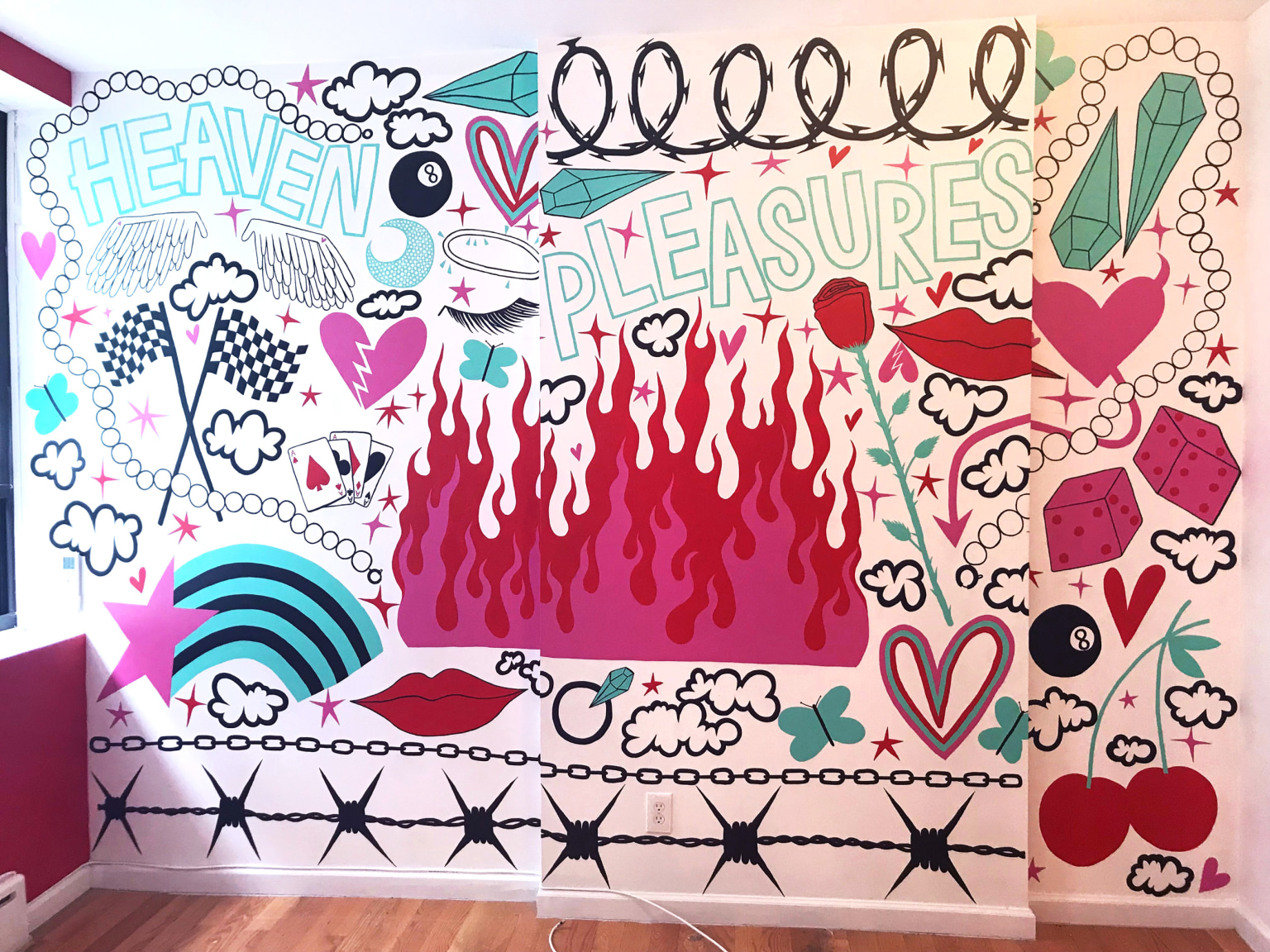 FIRE & ICE Airbnb Murals