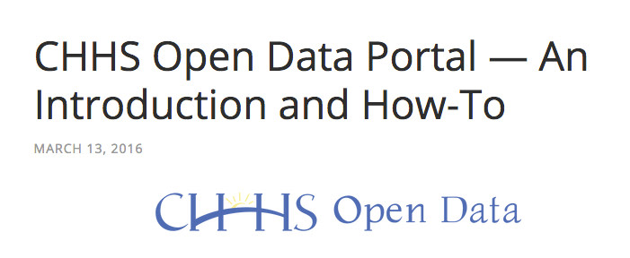 How-To Articles for CA Health and Human Services Open Data Portal