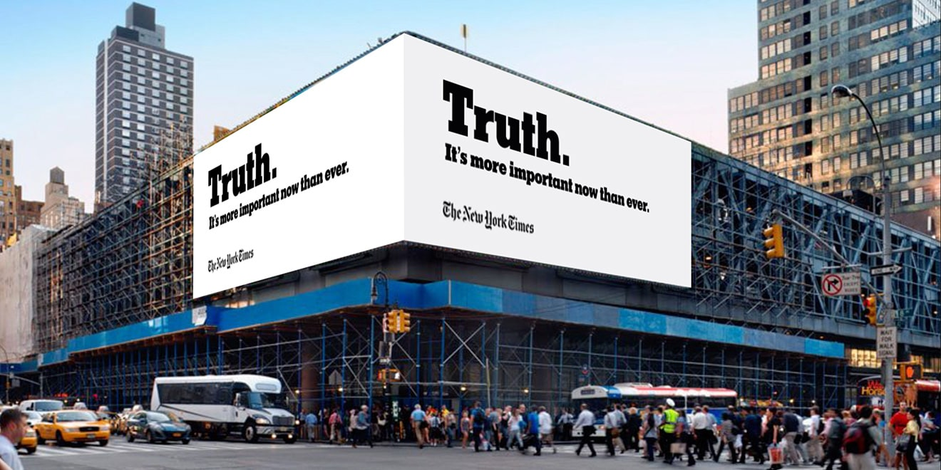 """Nw York Times """"The Truth Is Hard"""" Campaign"""