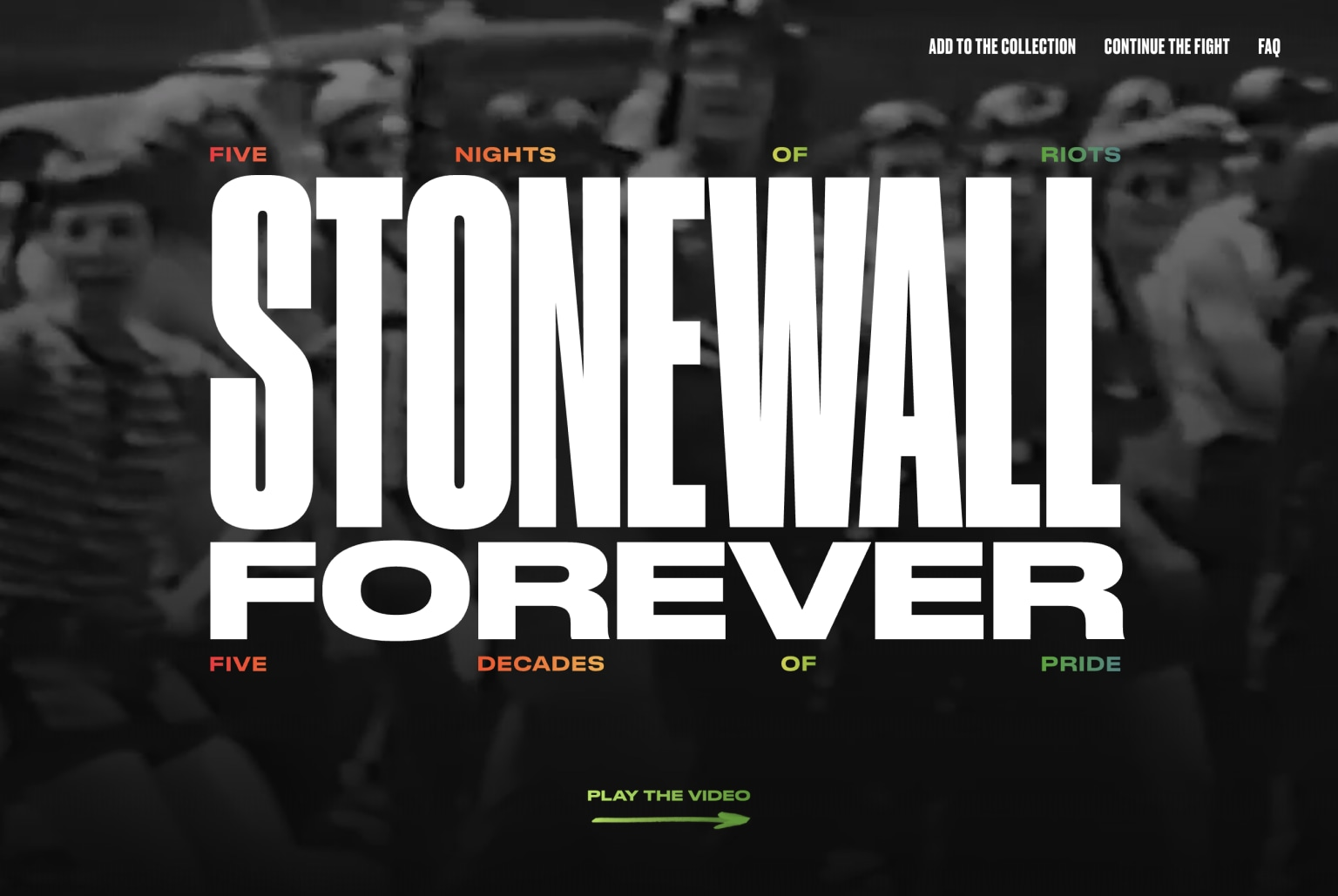 Stonewall Forever -- Creative Tech Lead