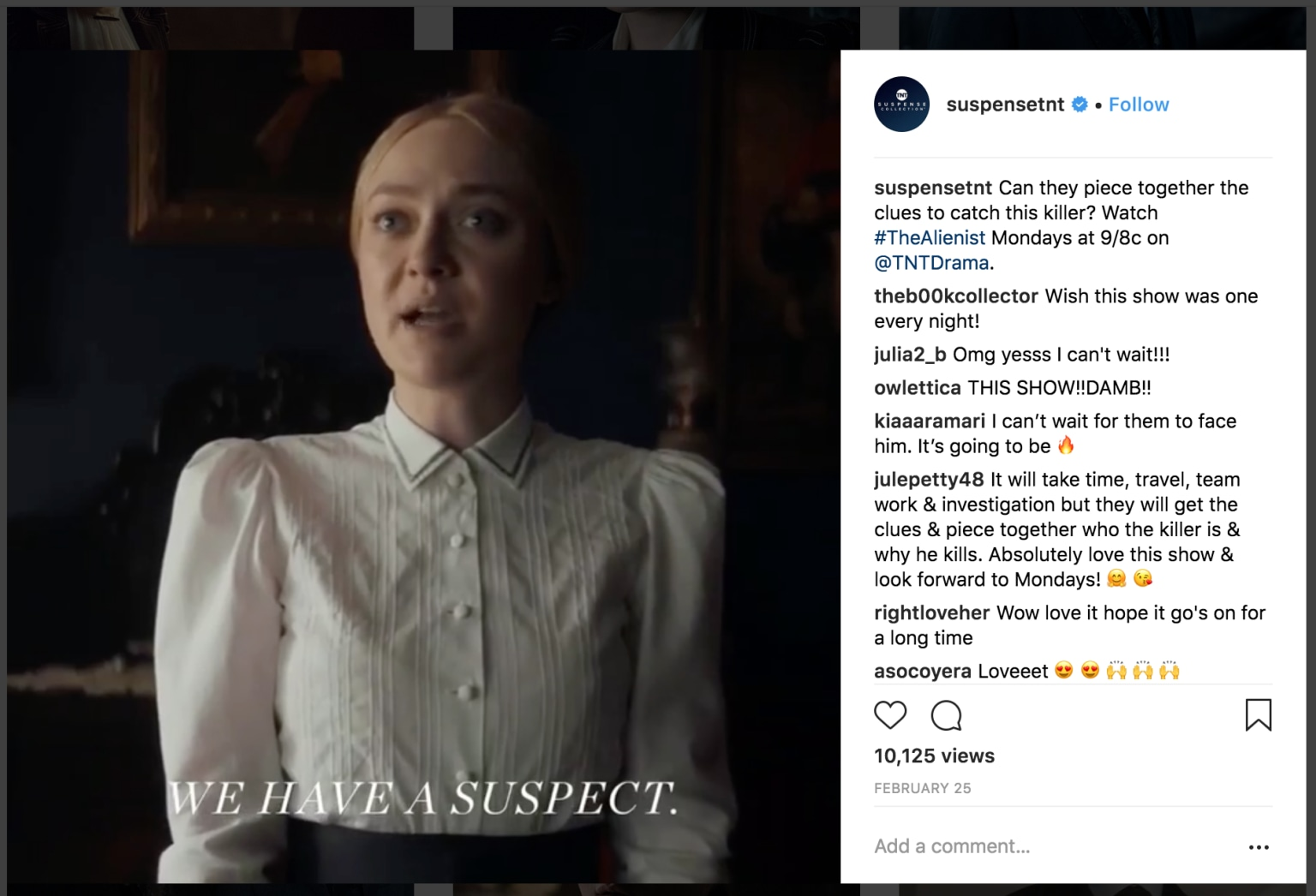 "TNT's ""The Alienist"" Instagram Video"