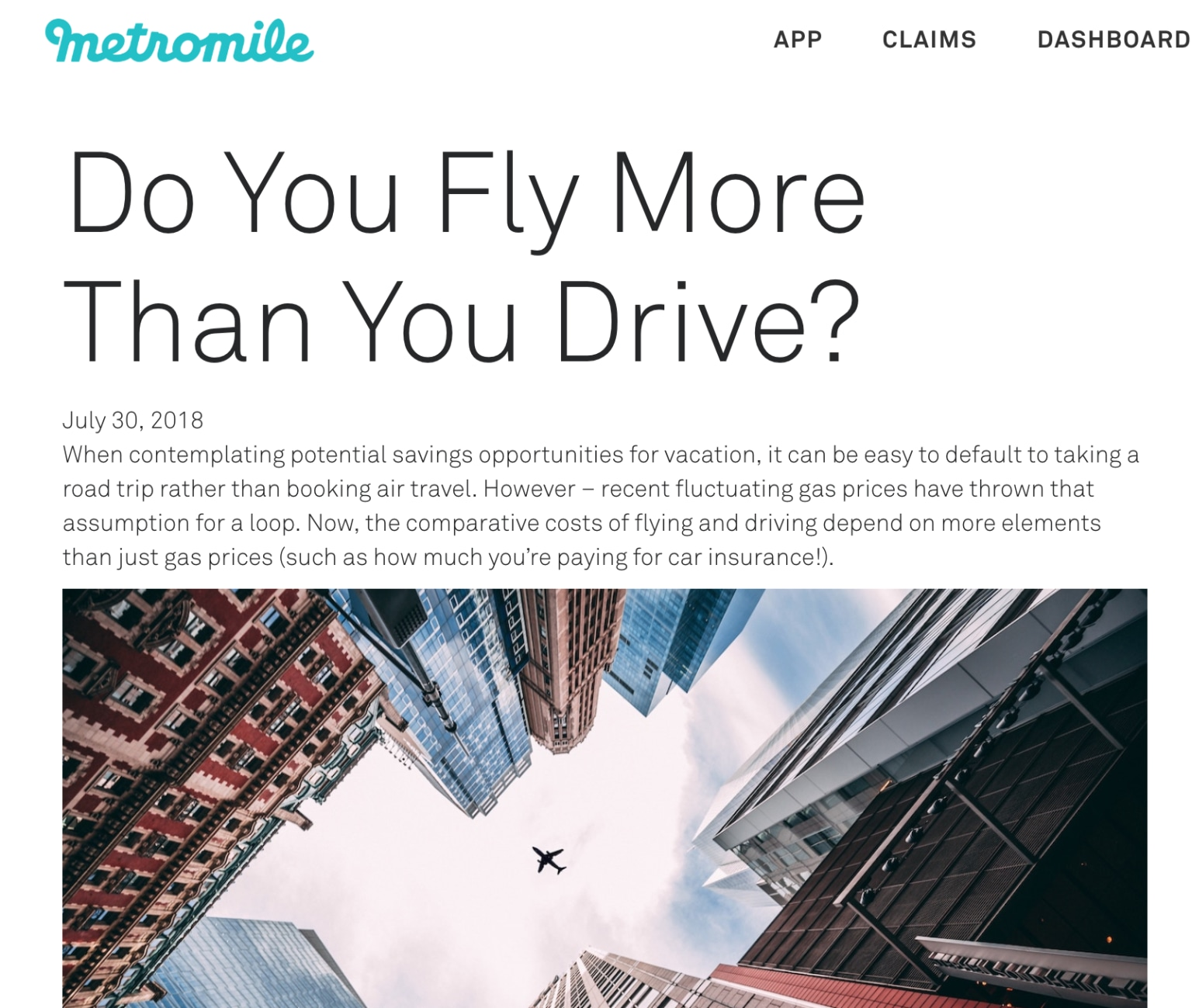 Metromile Blog Content Writing + Strategy