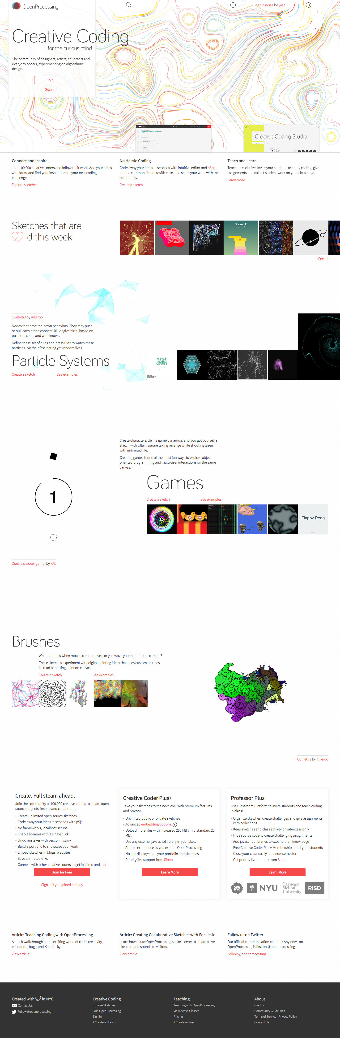 OpenProcessing - A Social Creative Coding Website for