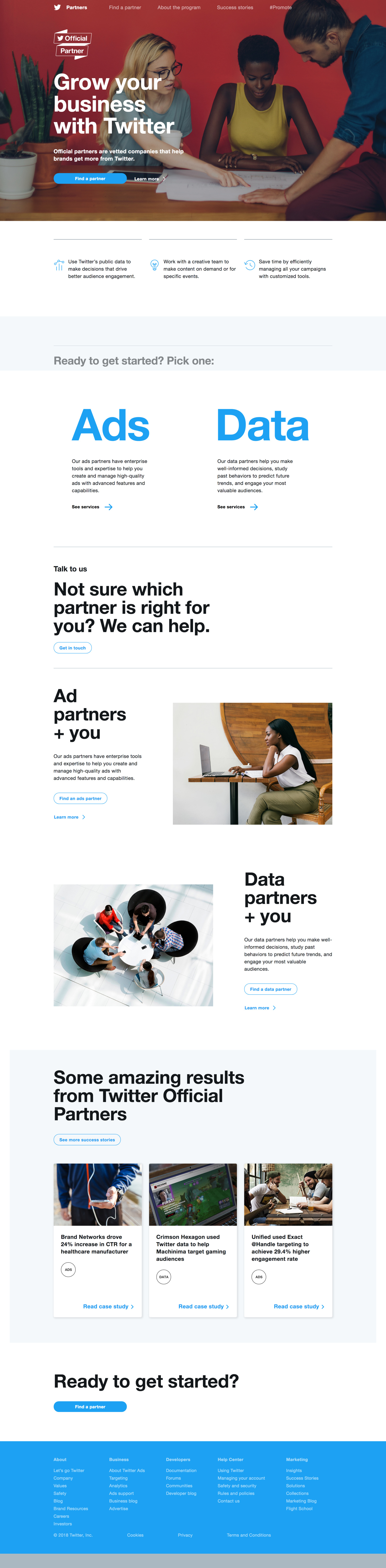Twitter Official Partners site + Web Style update
