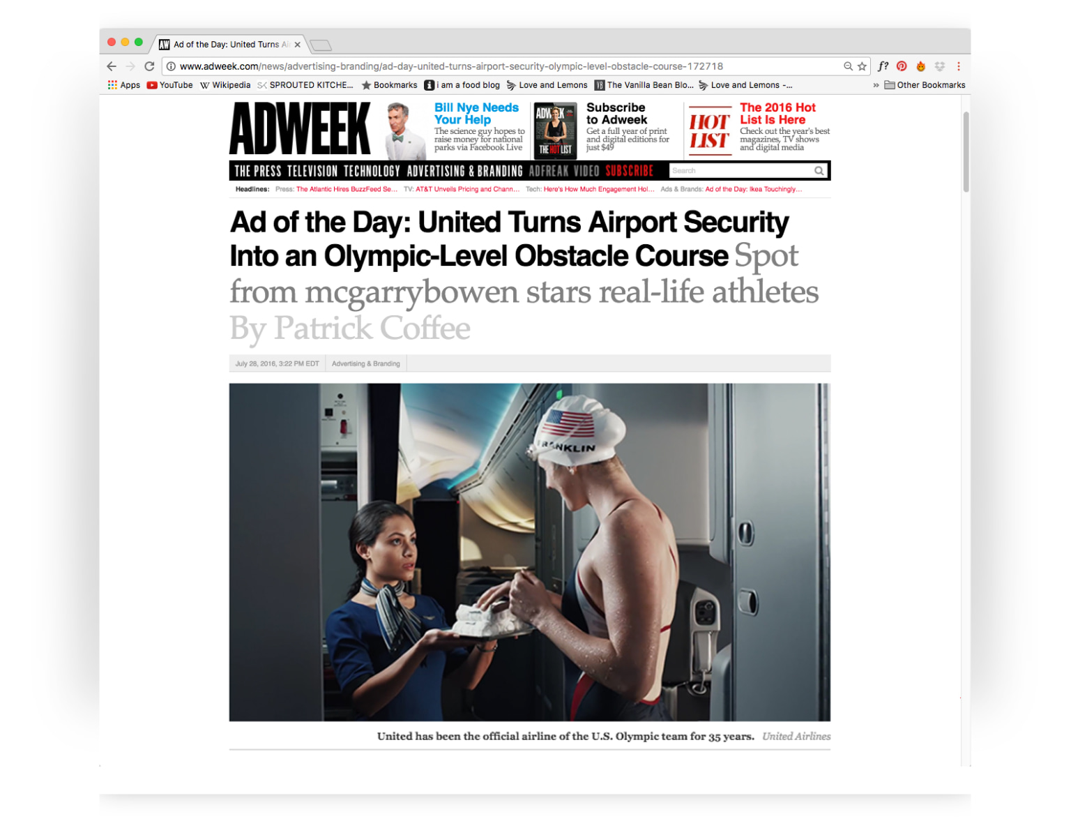 United Airlines - Olympics