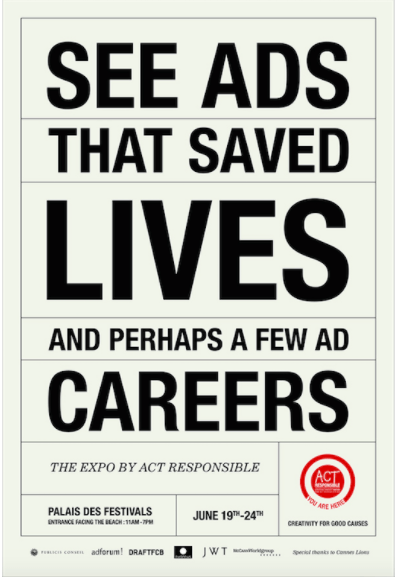 ACT_Advertising for Good Causes_CANNES 2013