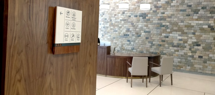 Wayfinding & Sign Design for a luxury senior living project in India