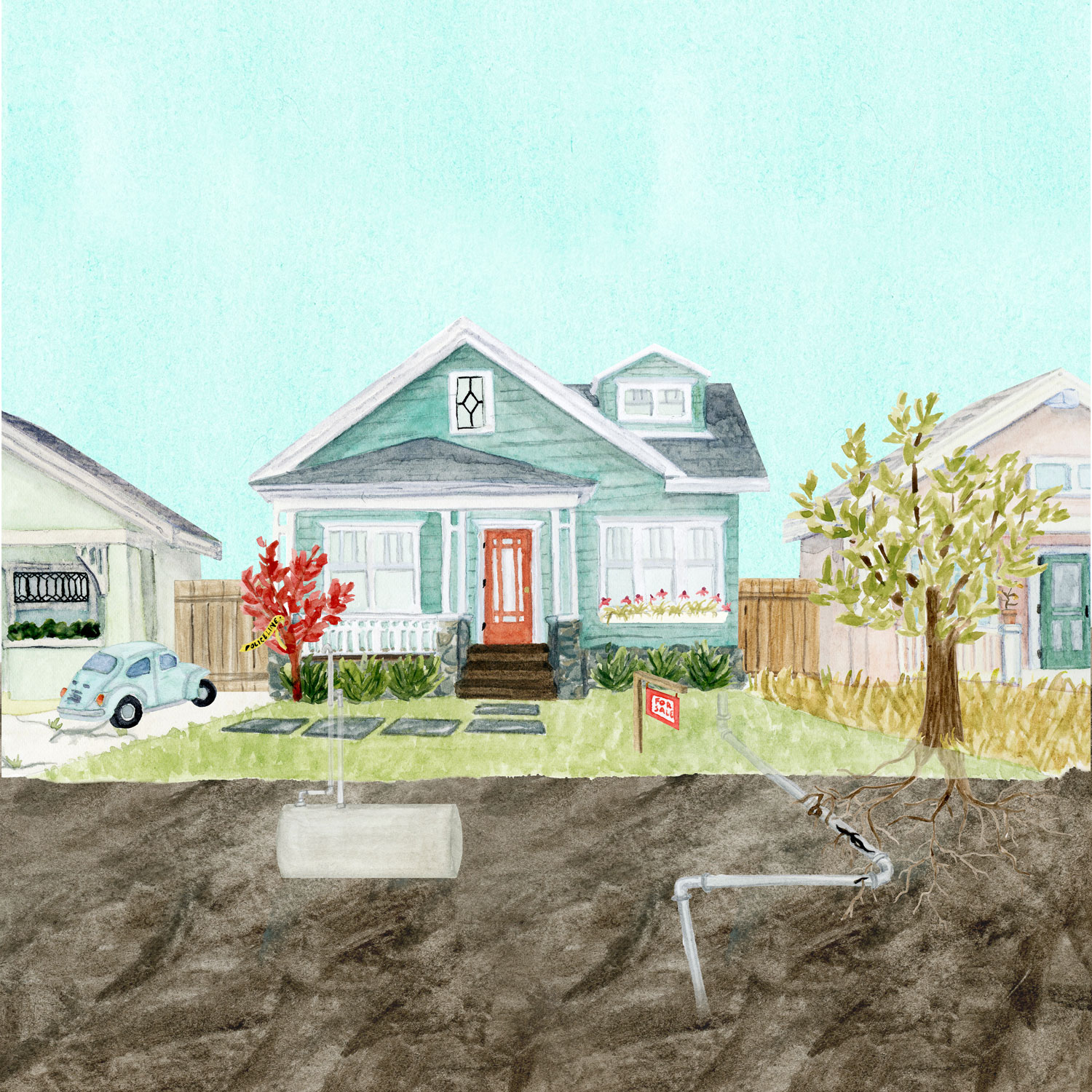 New York Times Real Estate Section illustration