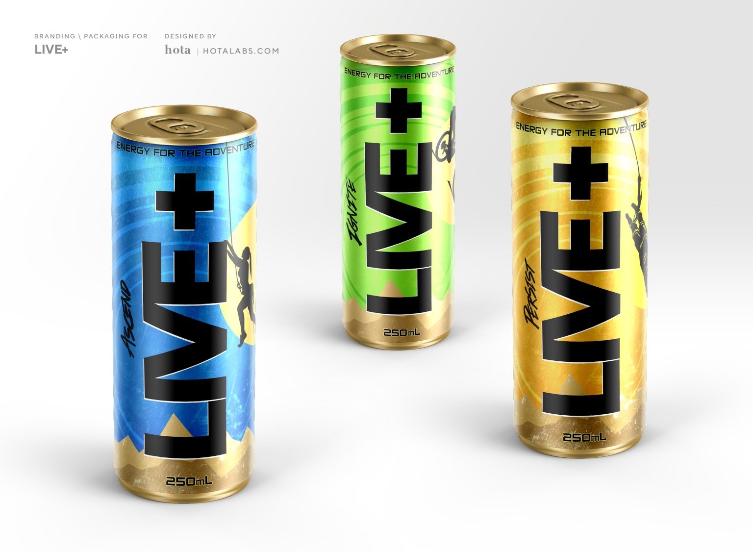 Live+ Energy Drink Branding for Monster Energy