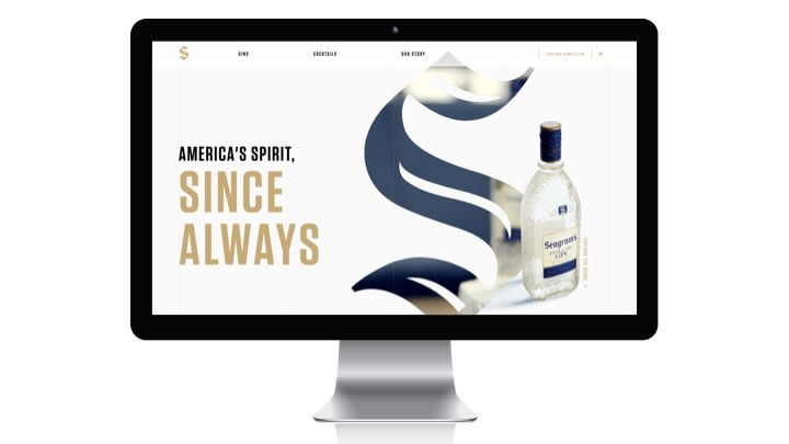 Seagram's Gin Website Strategy & Redesign