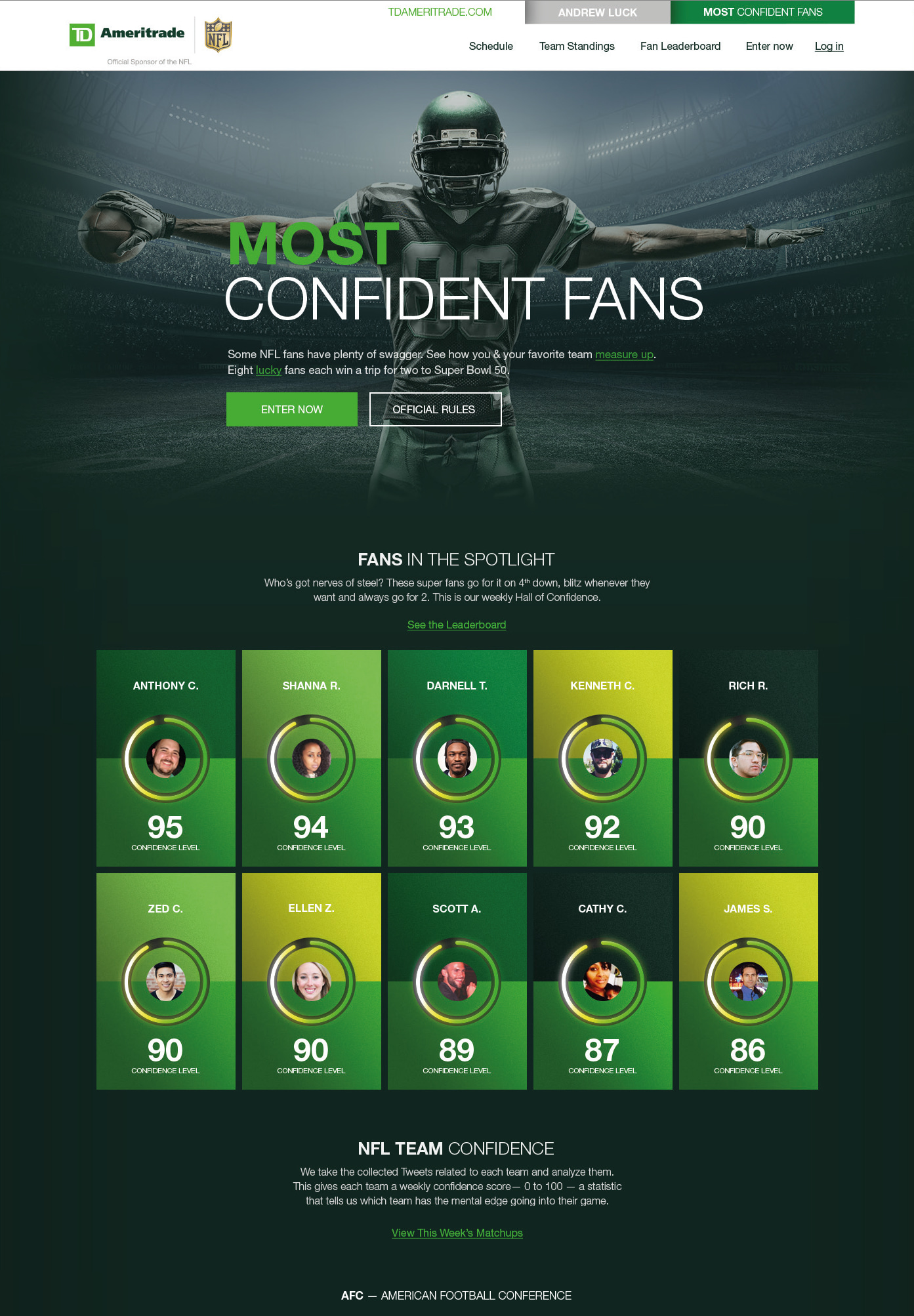 TD Ameritrade Most Confident Fans - WNW