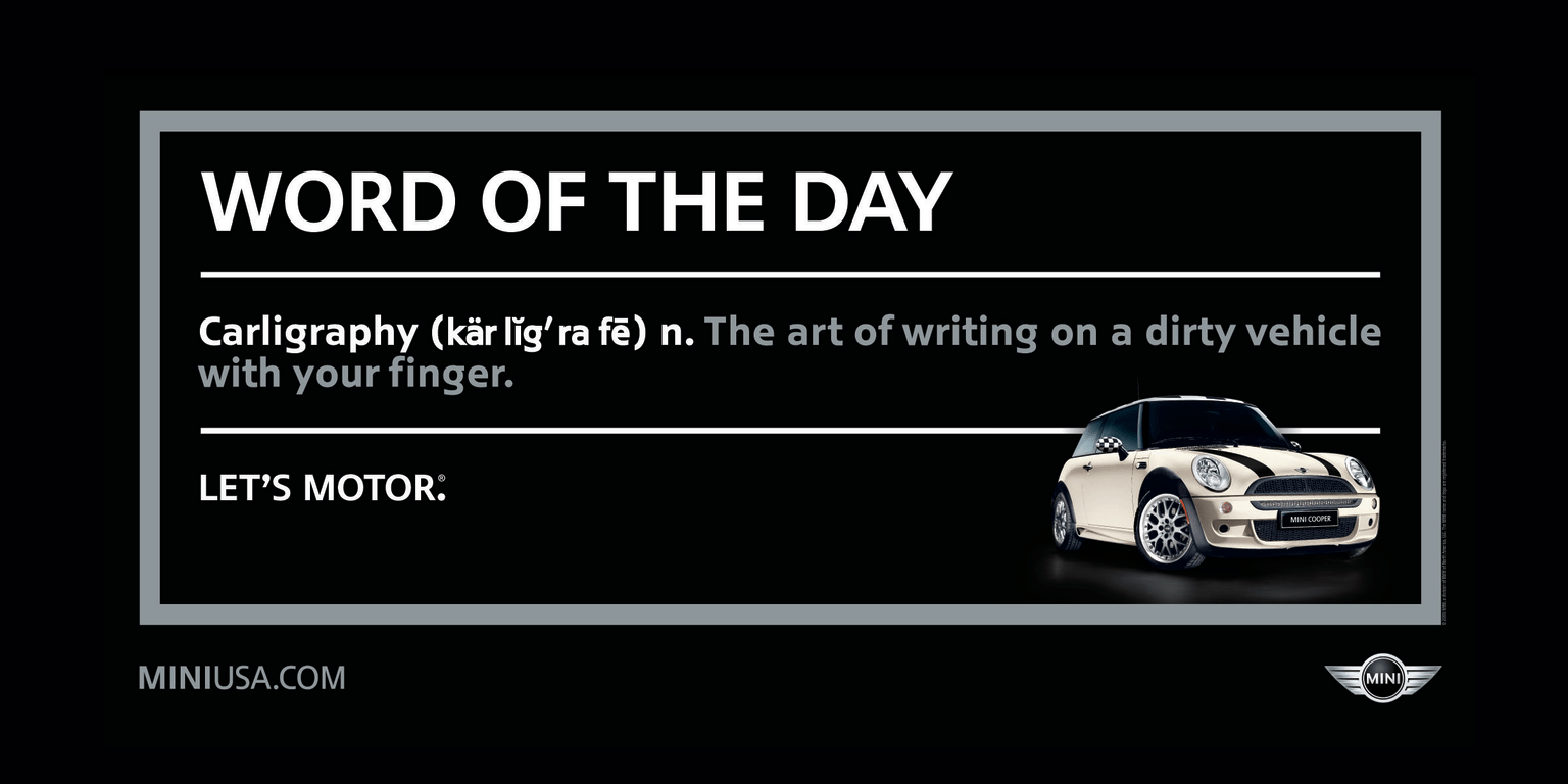 "MINI Cooper ""Word of the Day"""