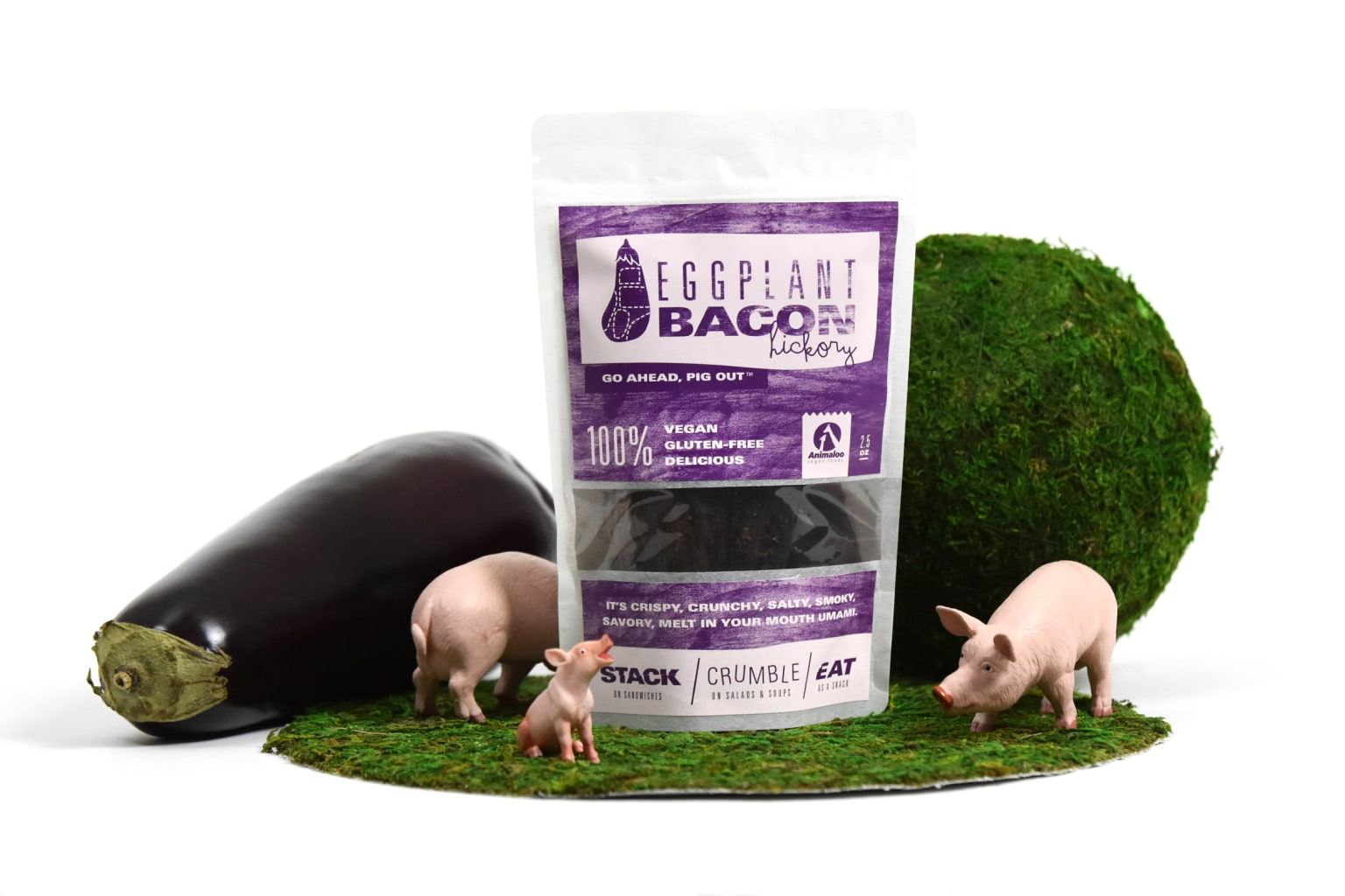 Eggplant Bacon Packaging