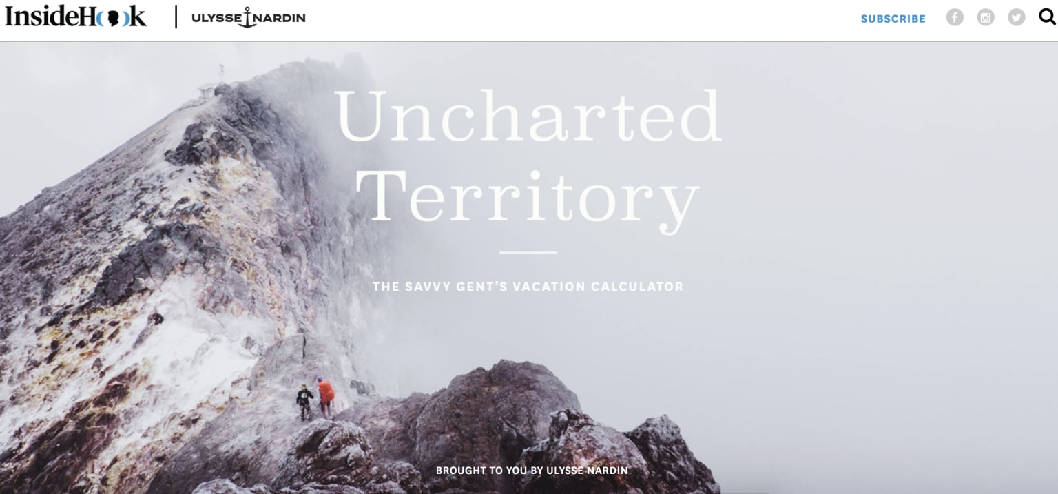 Uncharted Territory Ulysses Nardin Campaign