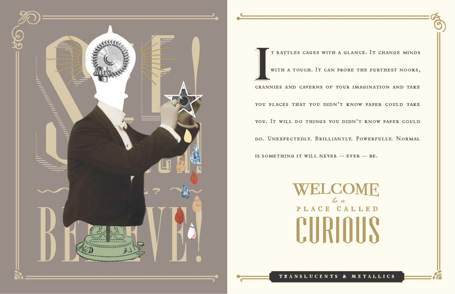 Appleton Coated's Curious Collection paper sample book