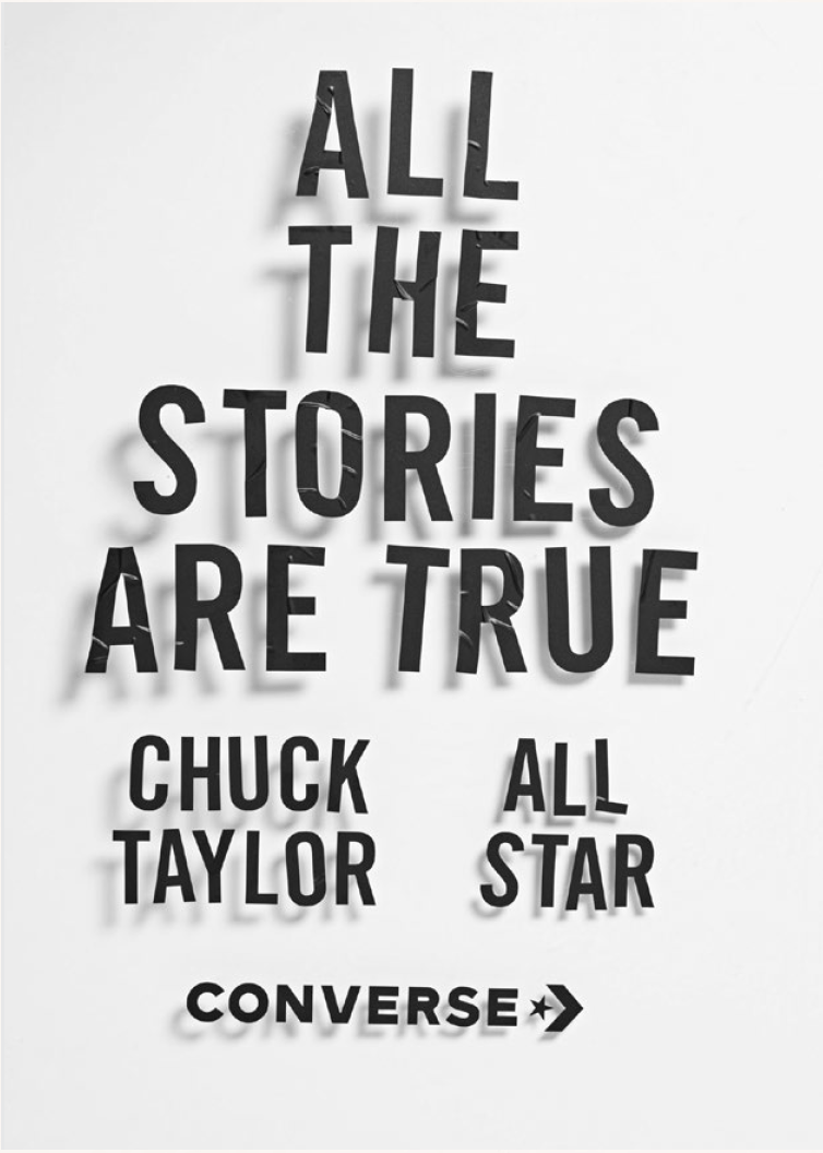 CONVERSE – ALL THE STORIES ARE TRUE
