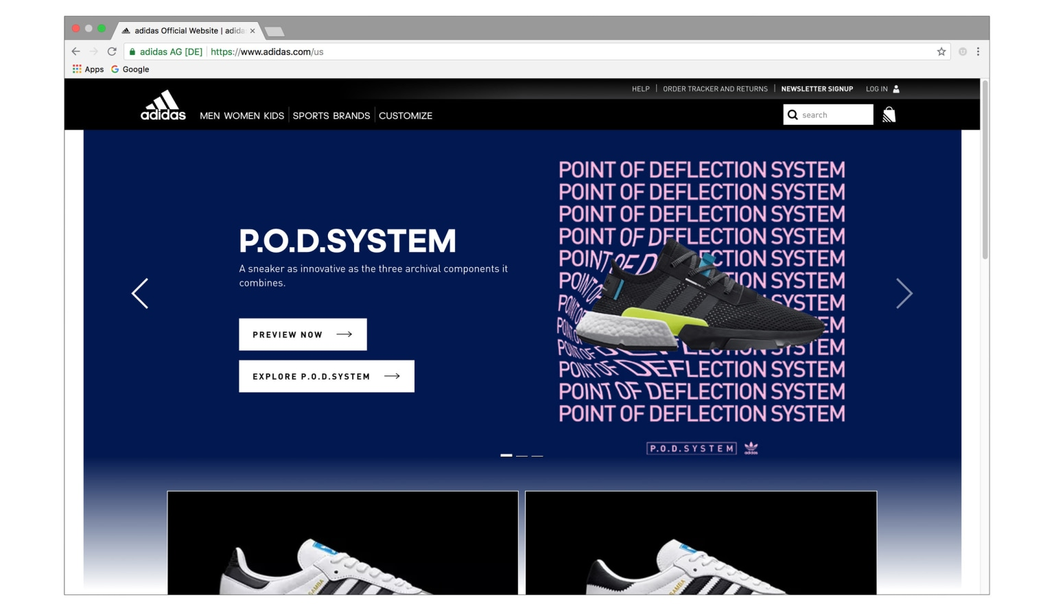 taille 40 21197 1e104 Adidas Originals: POD Web Experience - WNW