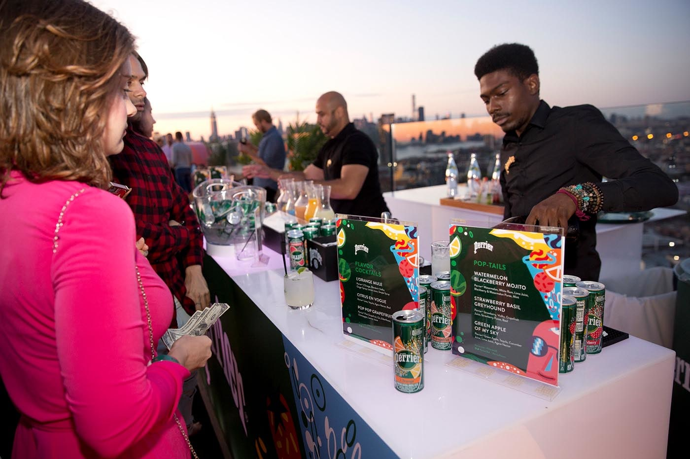 Perrier Flavor Sunsets